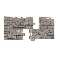 Фасадная панель Ю-ПЛАСТ Stone-House Сланец светло-серый. Цокольный сайдинг. Опт/розница.