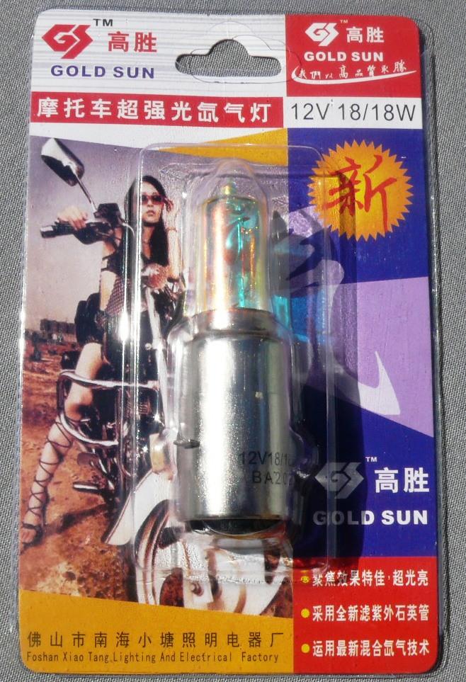 Лампа фары ВА-20D12V18/18 с отраж. Хамелеон (блистер)