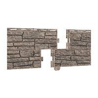 Фасадная панель Ю-ПЛАСТ Stone-House Сланец бурый, серый, бежевый. Опт/розница. Цокольный сайдинг.