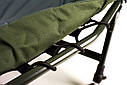 Раскладушка стальная карповая Ranger Campfeuer (2080х800x450мм), зеленая, фото 5