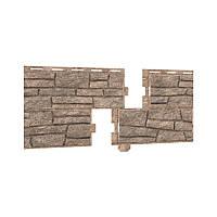 Фасадная панель Ю-ПЛАСТ Stone-House Сланец бежевый.Цокольный сайдинг. Опт/розница.