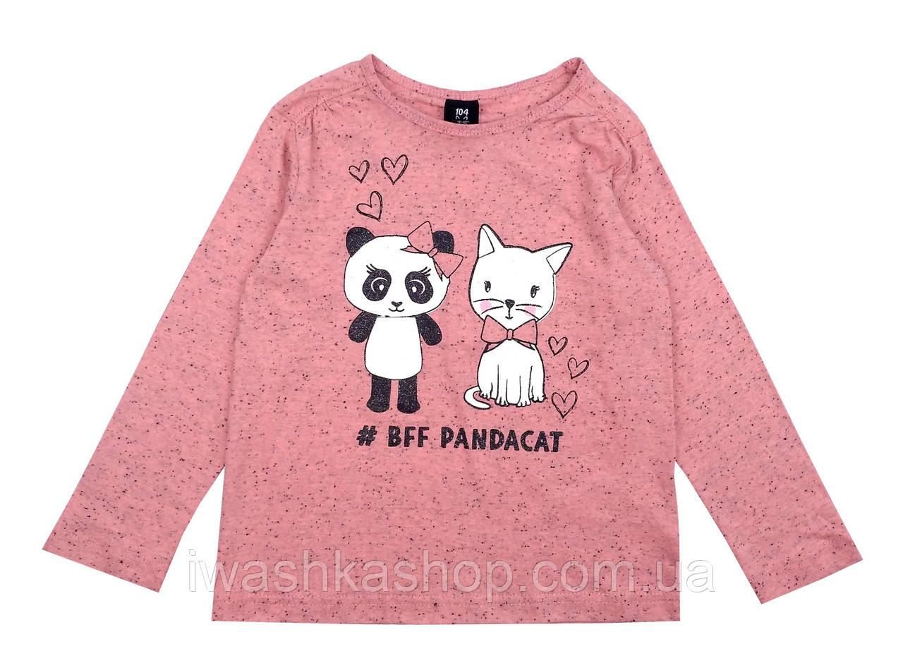 Модный меланжевый лонгслив на девочек 6 - 7 лет, р. 122, Kiki&Koko / KIK