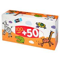 Платочки Бумажные Bella Baby Happy Универсальные Двухслойные 100 + 50 Шт (5900516420901)