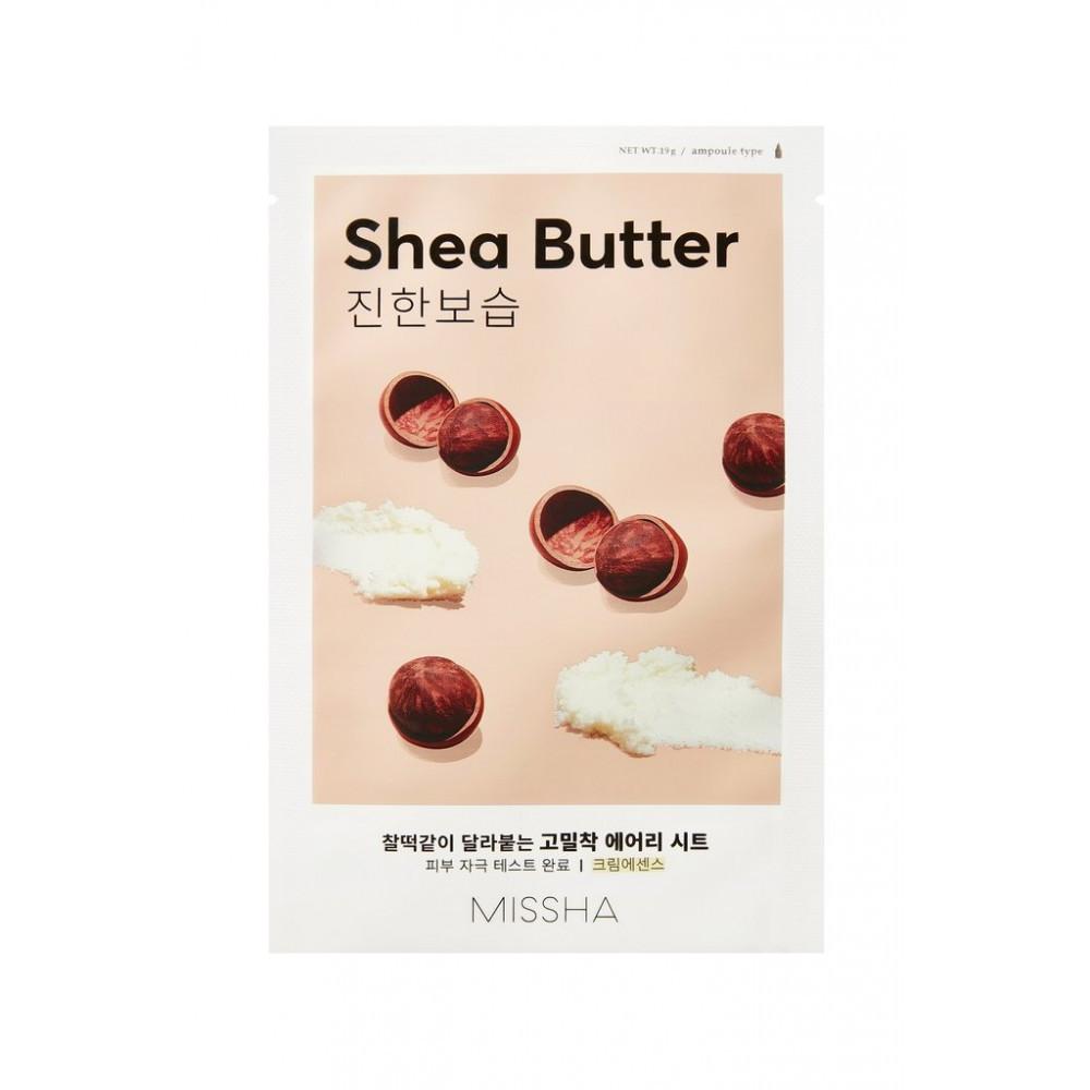 Тканевая маска для лица с маслом Ши Missha Airy Fit Sheet Mask Shea Butter, 19 г (Missha01)