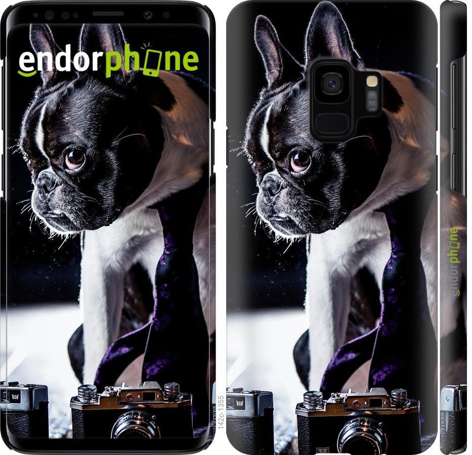Чехол для телефона Samsung Galaxy S9 бульдог художник