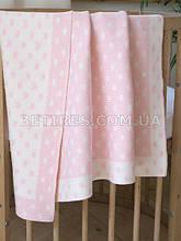Плед детский вязаный 90x90 BETIRES DREAM PINK (100% хлопок) розовый