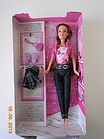 Кукла Ася с длинными темно-русыми волосами и джинсовая коллекция Kaprizz, фото 1