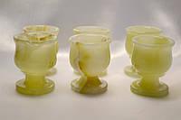 Рюмки из оникса 6 штук (5х4 см)