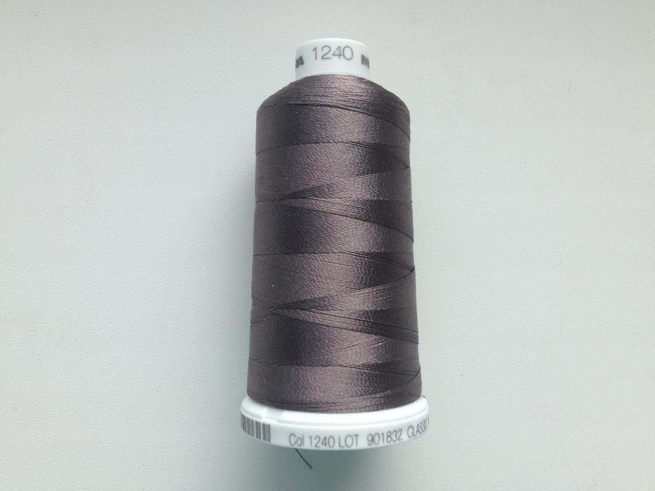 Нитки для машинной вышивки   Madeira Classic №40.  цвет 1240 ( ТЁМНО - КОРИЧНЕВЫЙ ). 1000 м