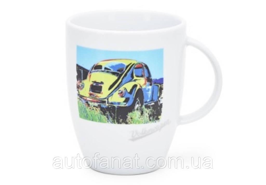 Оригинальная фарфоровая кружка Volkswagen Mug Beetle, Pop-Art-Style V2, White (311069601)