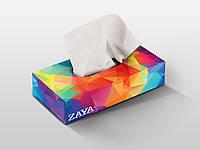 Салфетки косметические 75 шт. в коробке ZAYA® (100% целлюлоза)