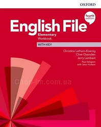 English File Fourth Edition Elementary Workbook with key / Рабочая тетрадь