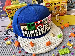 Детская кепка-конструктор для Lego c надписью MINECRAFT