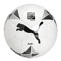 Мяч футбольный Puma Football Elite 1 art 082428 01 (из полиуретана, игровой, размер 5, бренд пума)