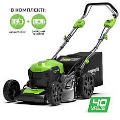 Газонокосарка акумуляторна Greenworks GD40LM46SPK4x