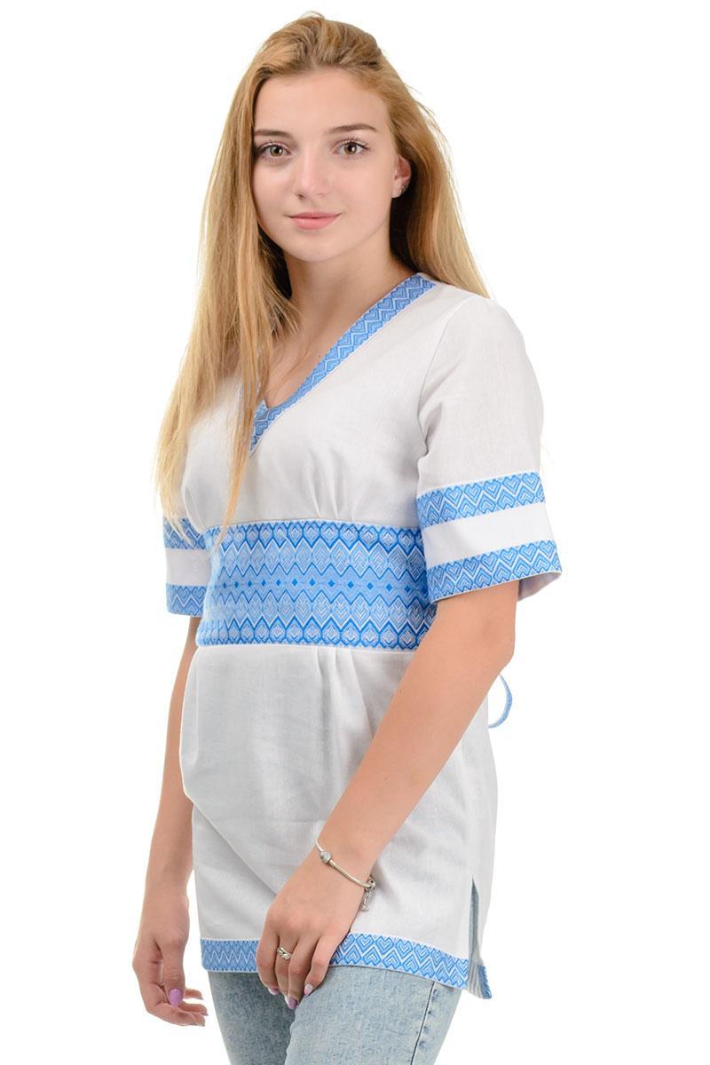 Женская туника в украинском стиле (голубой)