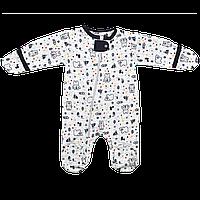 Человечек для новорожденных на молнии Норвегия, Размер детской одежды 74