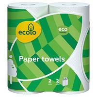 Бумажные Полотенца Ecolo 45 Отрыва 2 Слоя 2 Рулона Белые (4820023747210)