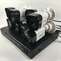 Система видеонаблюдения  / Комплект из 8 камер и ресивера / Видеонаблюдение уличное (для улицы), для квартиры