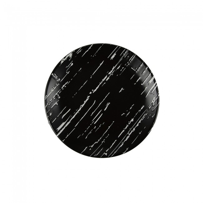 Тарелка мелкая темный камень 205 мм