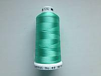 Нитки для машинной вышивки   Madeira Classic №40.  цвет 1282 ( САЛАТОВЫЙ ).  1000 м