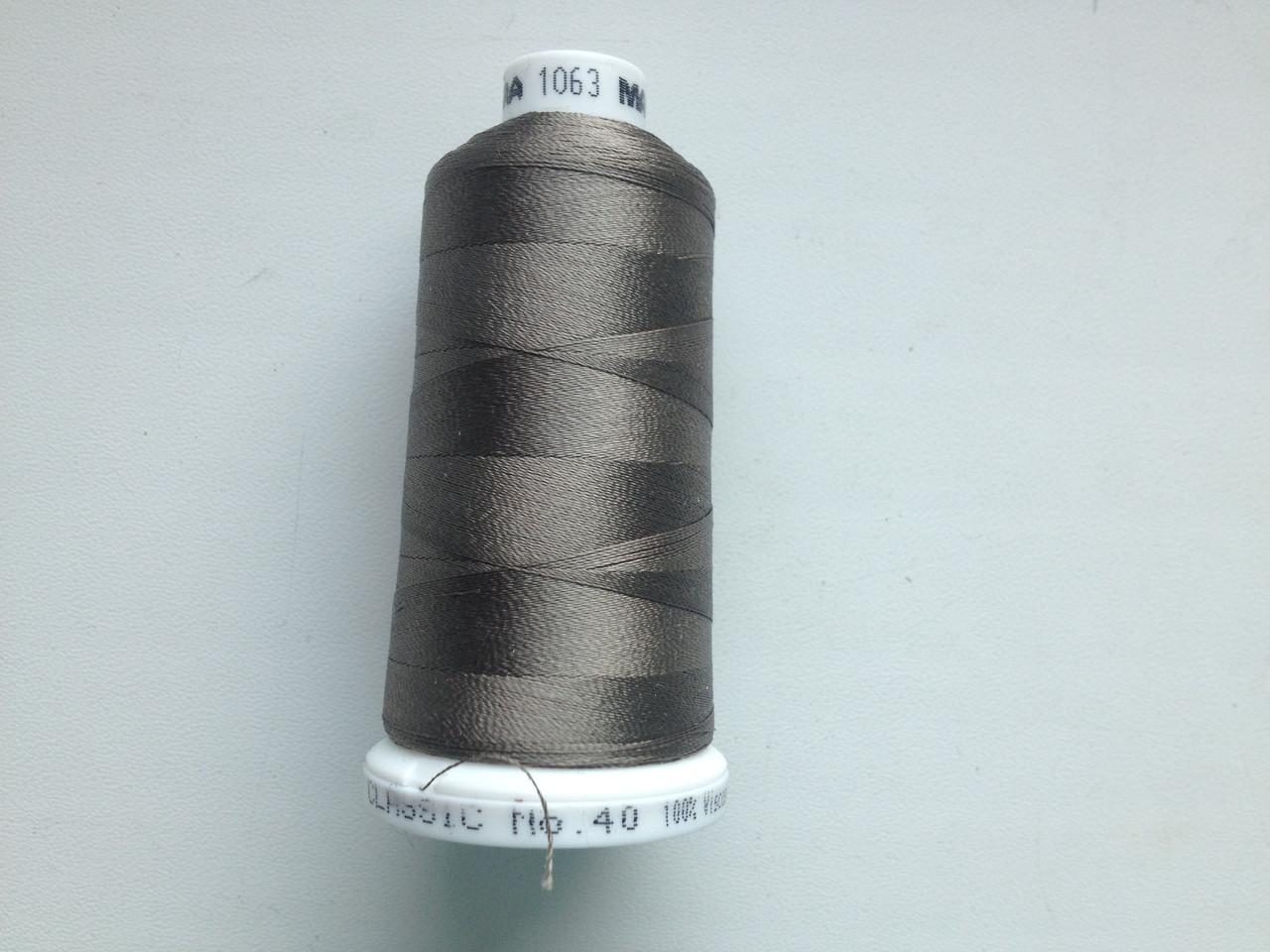 Нитки для машинной вышивки   Madeira Classic №40.  цвет 1063 ( ХАКИ ).  1000 м