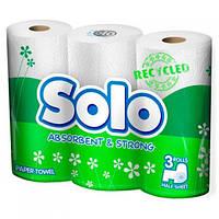 Бумажные Полотенца Solo Рециклинговые 2 Слоя 90 Отрывов 3 Рулона (8690530035096)