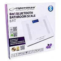 Весы напольные Esperanza EBS016W B.Fit 8 в 1, белые