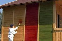 Чем покрасить деревянный дачный домик