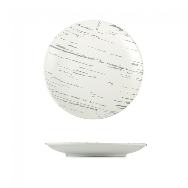 Тарелка мелкая светлый камень 205 мм