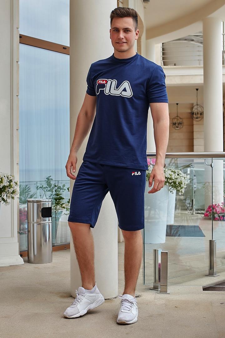 Костюм мужской из двунитки с футболкой с короткими рукавами Копия (К27999)