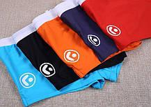 Мужские Купальные плавки\ боксеры AQUX  Синие мини-шорты, Карман\ Сетка, чоловічі шорти плавання купання сині, фото 3