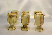 Рюмки из оникса 6 штук (6х4 см)
