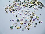 Стразы Swarovski микс разные размеры и формы + формочки разных форм (1400 шт) АВ -радужные., фото 2