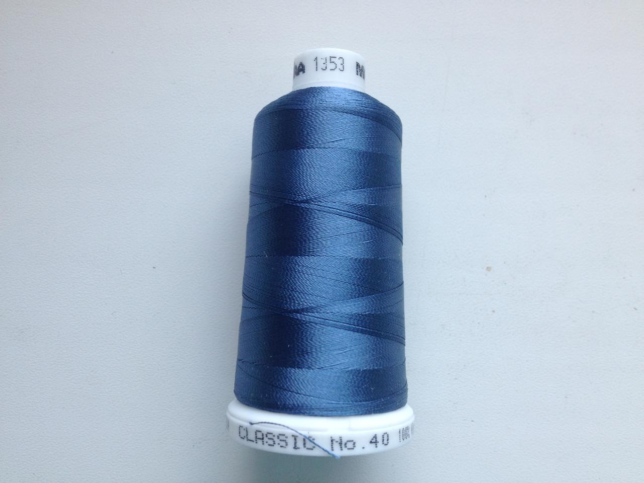 Нитки для машинной вышивки   Madeira Classic №40.  цвет 1353.  1000 м