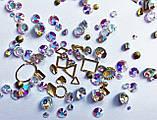 Стразы Swarovski микс разные размеры и формы + формочки разных форм (1400 шт) АВ -радужные., фото 5