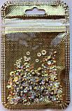 Стразы Swarovski микс разные размеры и формы + формочки разных форм (1400 шт) АВ -радужные., фото 8