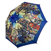 """Детский зонтик для мальчиков """"Лего Ниндзяго"""" от Paolo Rossi, с синей ручкой, 017-3, фото 1"""