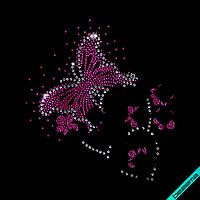 Дизайн на дубленки Бабочки (Стекло,2мм-роз.,3мм-бел.)