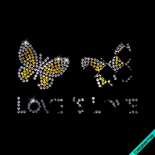Декор на куртки Love is Love (Скло,2мм-н.,2мм-біл.)