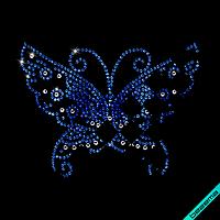 Переводки на челочно-носочные изделия термо Бабочки (Стекло,3мм-сапф.,5мм-бенз.,5мм-бел.)