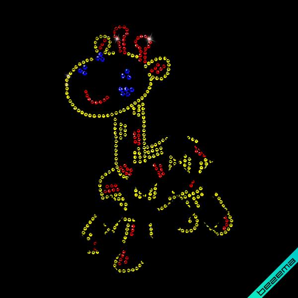 Термопечать на жилеты Жираф (Стекло,2мм-жел.,2мм-фукс.,3мм-син.)