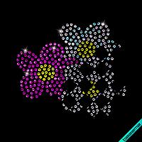 Термопринт на шорты Цветок (Стекло,2мм-жел.,2мм-бел.,2мм-фукс.,2мм-бенз.)