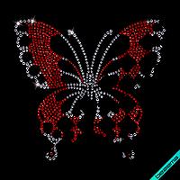 Рисунки на текстильные изделия Бабочка (Стекло,2мм-бел.,2мм-роз.,3мм-роз.,4мм-роз.,4мм-бел)