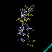 Наклейки на боди Лилия (Стекло,2мм-бел.,2мм-жел.,3мм-голуб.)