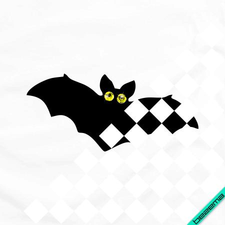 Наклейки из страз на вышиванки Летучая мышь