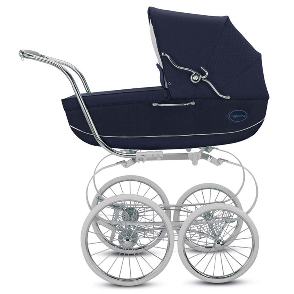 Коляска Inglesina Classica Jacquard Blue AB05K0JBL с сумкой