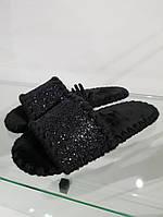 Тапки жіночі Casual gold star чорні