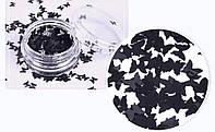 Декор для ногтей Бабочки черные