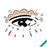 Термонаклейки на куртки глаз логотип [Свой размер и материалы в ассортименте]